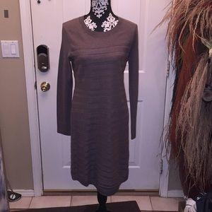 A brand new brown sweater dress